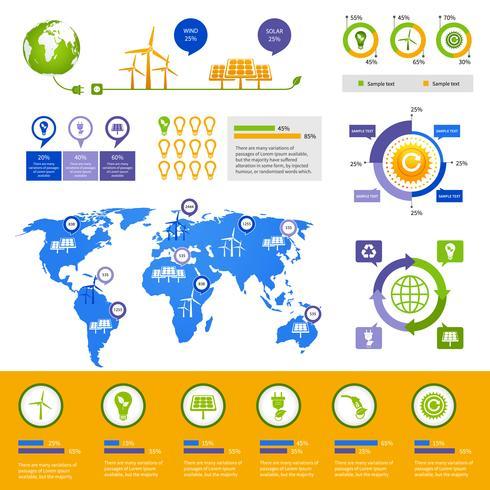 Energie infographic sjabloon vector