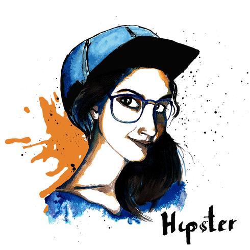 Tjej bläck hipster