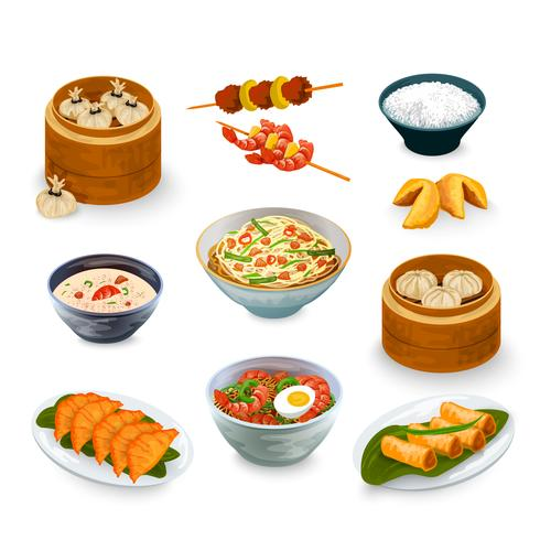 asiatisk matuppsättning