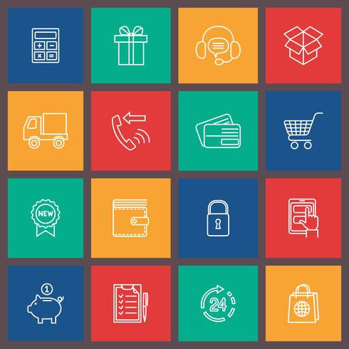 Shopping e-handelsikonen