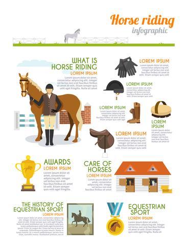 Jockey Infografiken Set vektor