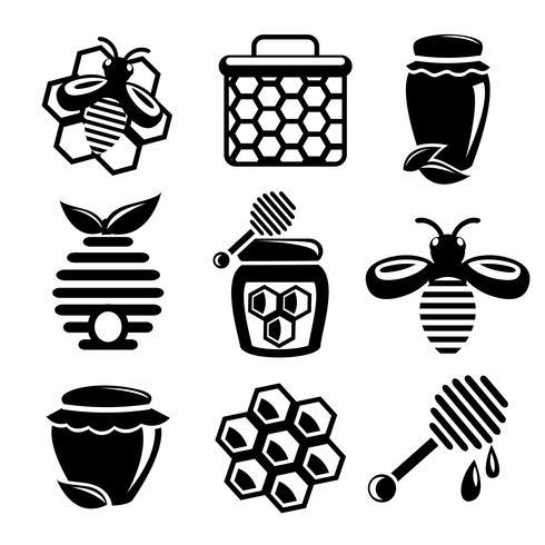 Conjunto de iconos de miel