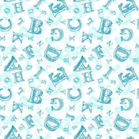 Schets alfabet naadloze patroon