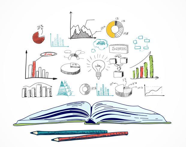 Libro abierto negocio doodle