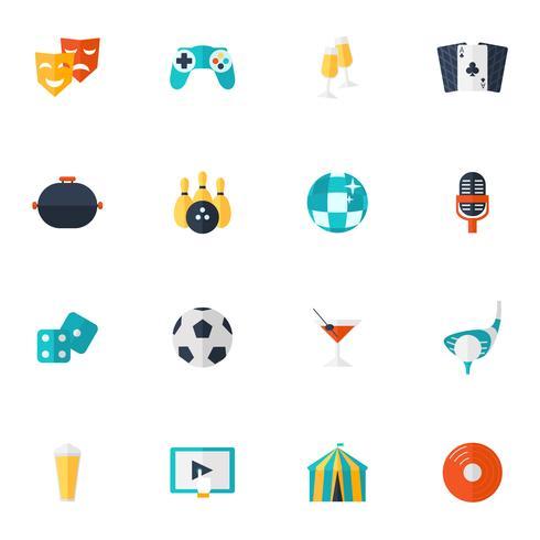 Underhållnings ikoner Flat Set