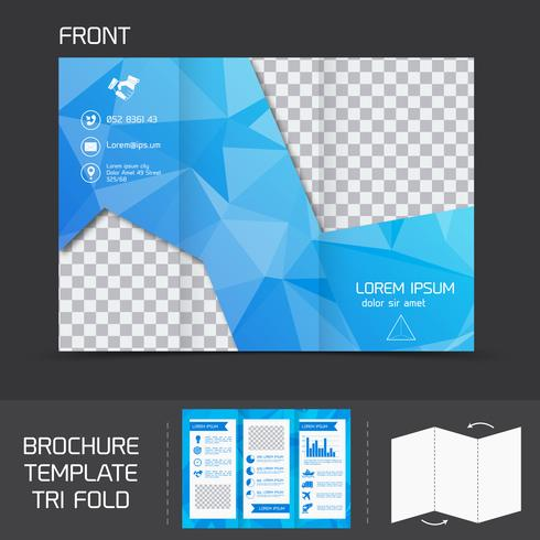 Brochure-sjabloon tri-fold