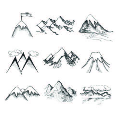Iconos de la cima de la montaña