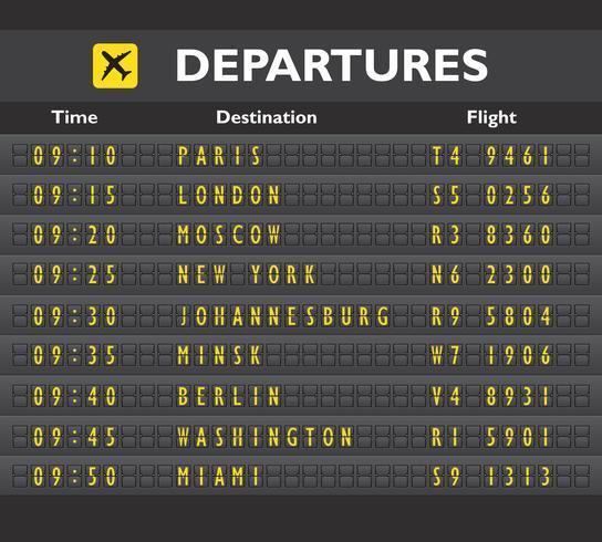 Afdrukken op luchthavenbord