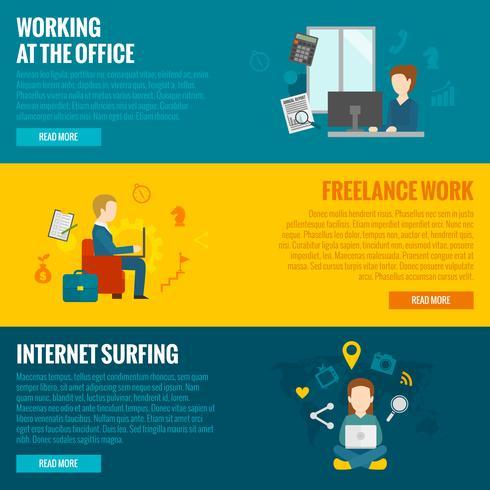 Banners de Trabalho de Computador vetor