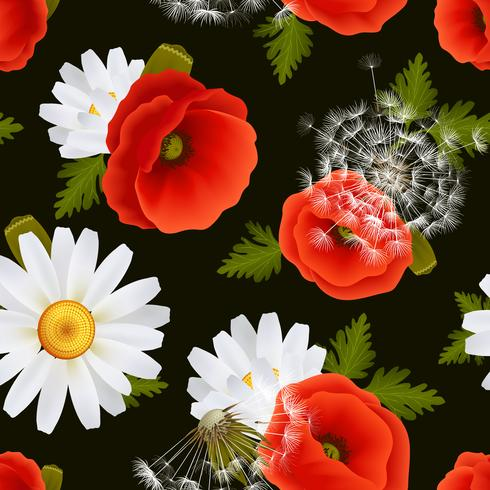 Blommigt sömlöst mönster