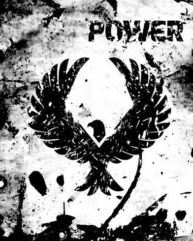 Eagle zwarte poster