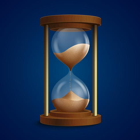 Fondo de reloj de reloj de arena retro