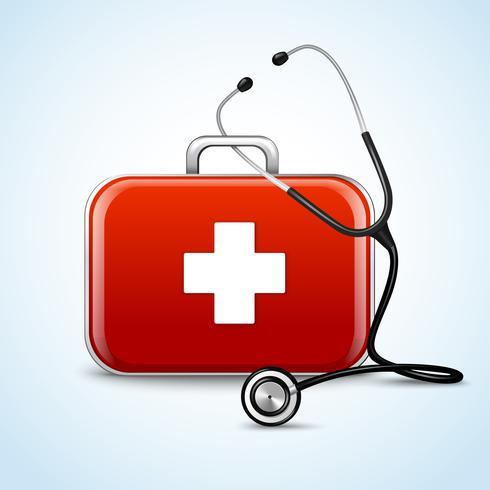 Första hjälpen sjukvård begrepp