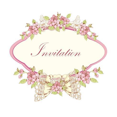 Invitation fleurie aux cerises
