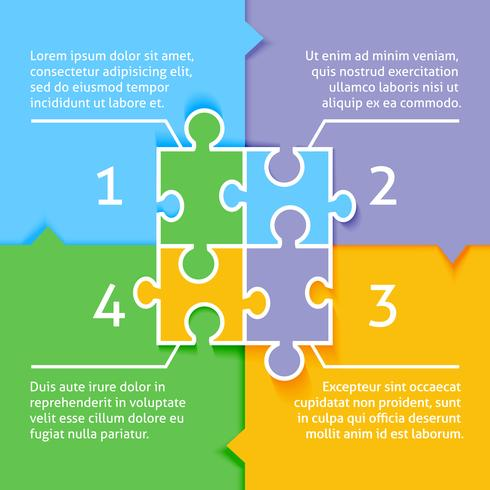 Puzzel infographic achtergrond