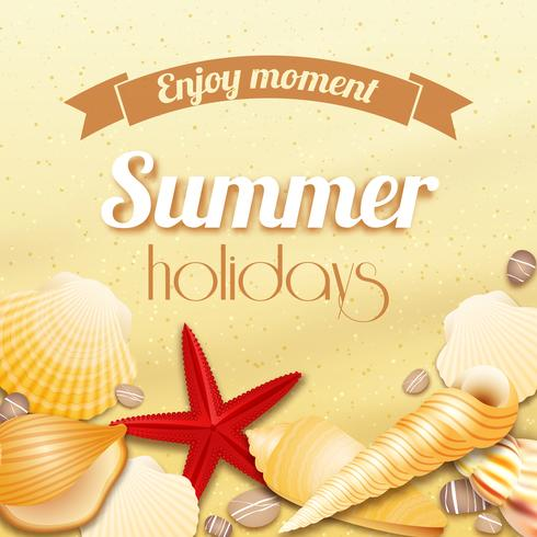 Fundo de férias de férias de verão vetor