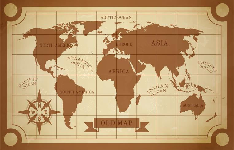 Ilustración de mapa antiguo vector