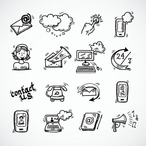 Contact Us Icons Sketch
