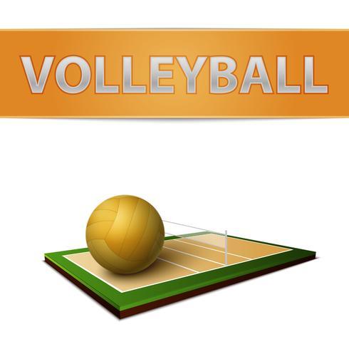 Volleyball Ball und Feld Emblem