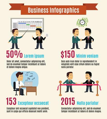 företags infografiska uppsättning