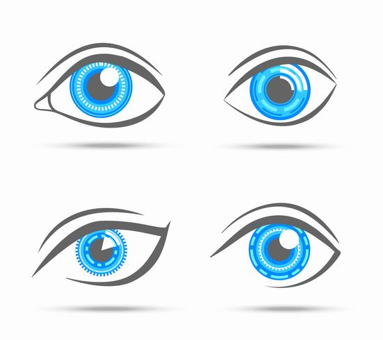 Ögon ikoner cyber