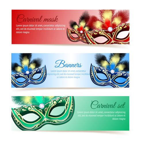 Carnival mask banners