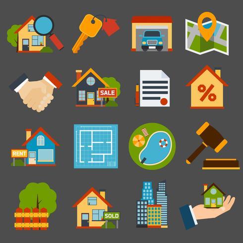 Conjunto inmobiliario vector