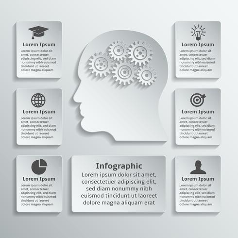 Infográfico de cabeça de engrenagem