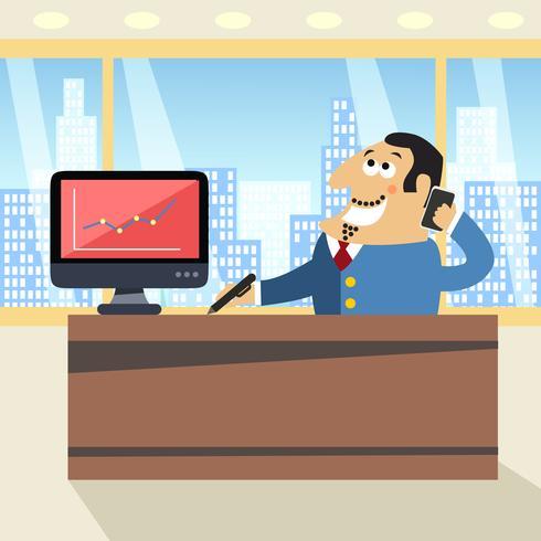 Chefe no escritório vetor