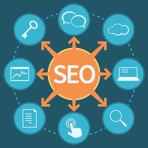 SEO marketing concept vector