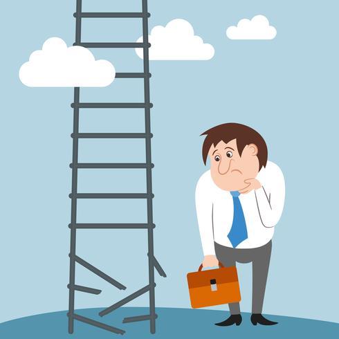 Caráter de empresário triste e confuso perdeu o emprego