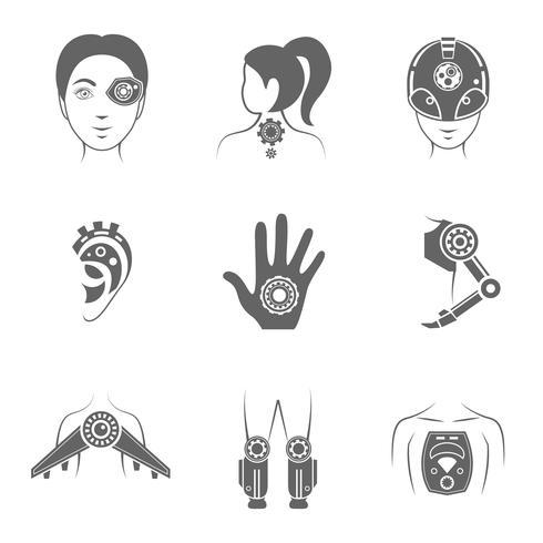 Human robot icon