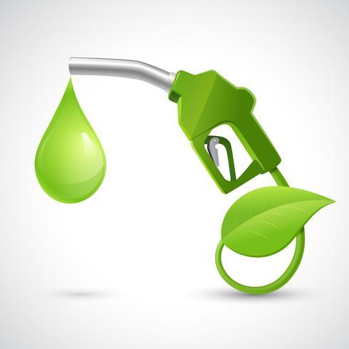 Concepto de logo de bio combustible vector