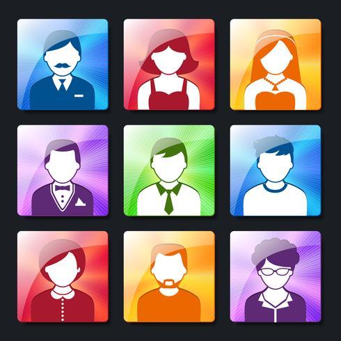 Set di icone social avatar