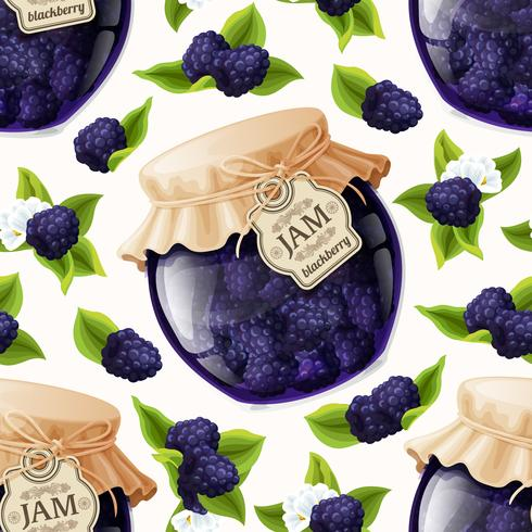Blackberry-jamsglas