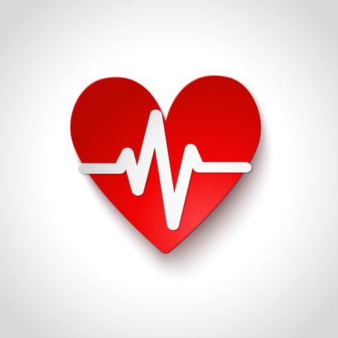 Symbol för hjärtfrekvensemblem isolerad