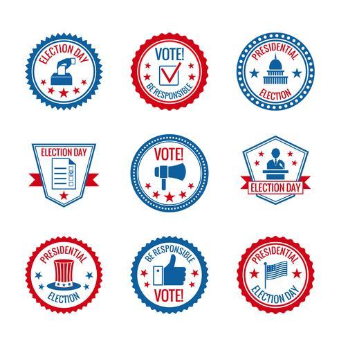 Verkiezingen labels instellen vector