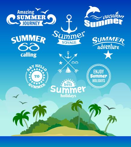 Etiqueta de elemento de verano