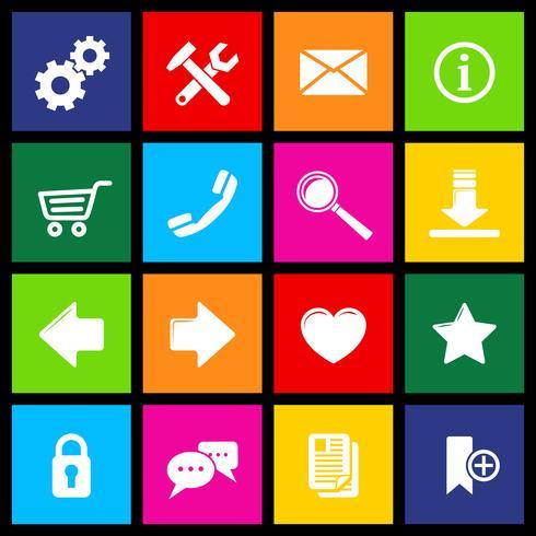 Icônes de sites Web Metro vecteur