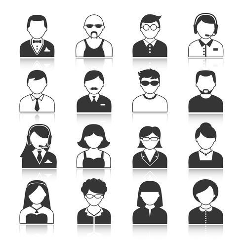 Set di icone di personaggi avatar