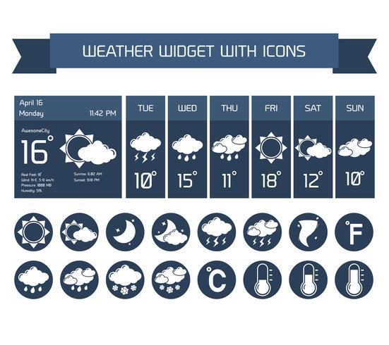 Weather widget icons set