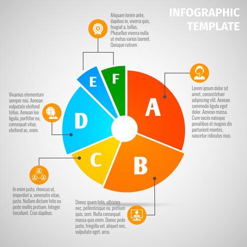 Infografía de reunión de gráfico circular