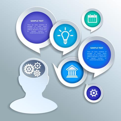 Elementos de diseño de infografías de negocios de papel