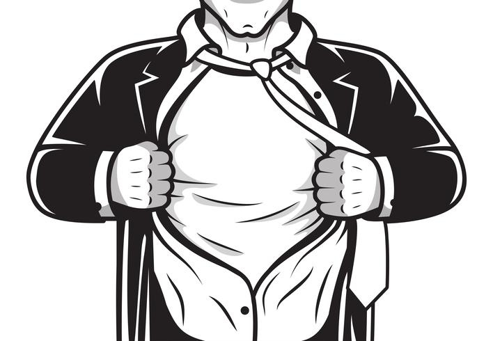 Camisa de apertura comic hero vector