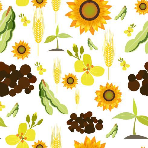 Modèle sans couture de l'agriculture vecteur