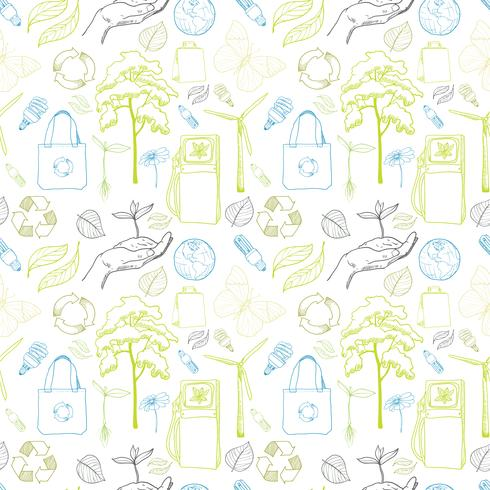 Seamless ecology and environment pattern