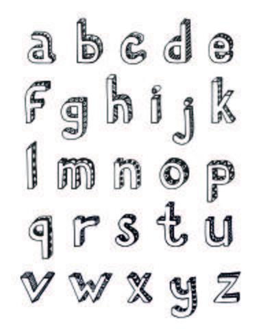 Esboçar letras pequenas do alfabeto