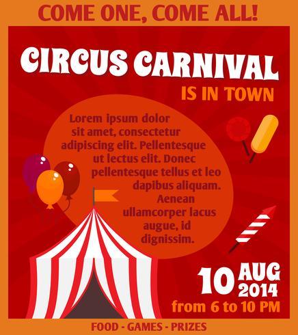 Manifesto pubblicitario del circo vettore