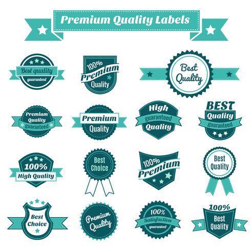 Set van product prijskaartjes vector