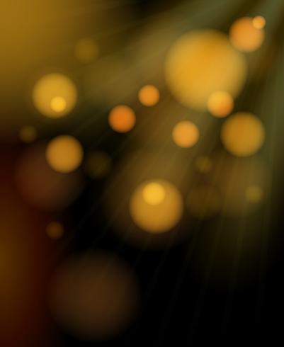 Unscharfe goldene Blasen, die Hintergrund schimmern vektor